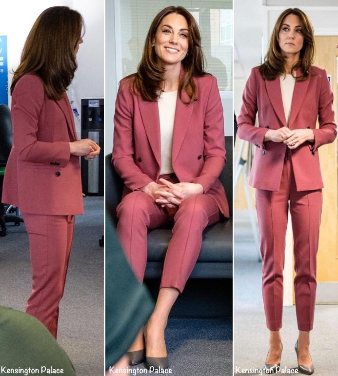 """Lần đầu tiên Công nương Kate diện nguyên bộ suit, là """"học"""" phá vỡ quy tắc Hoàng gia từ Meghan? - Ảnh 2."""