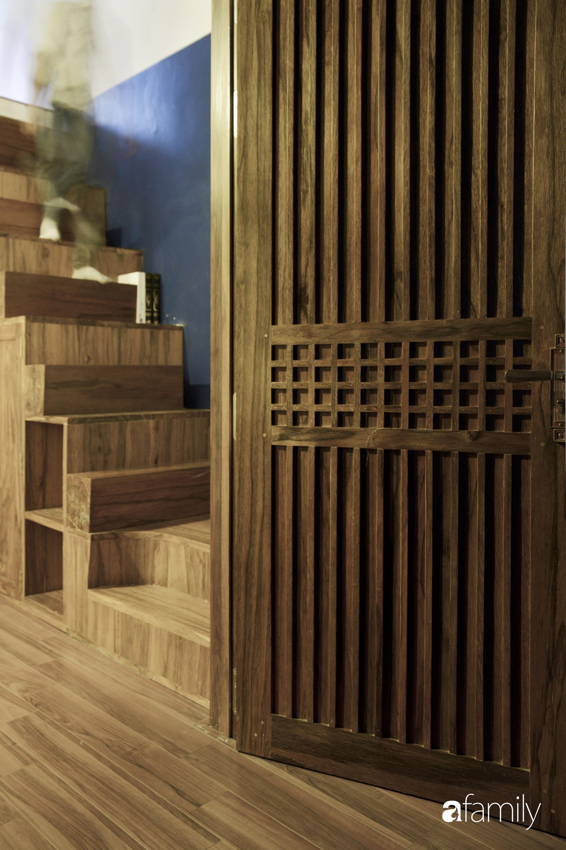 Vẻ đẹp của gỗ kết hợp nội thất đơn giản trong ngôi nhà 45,6m² ở ngõ nhỏ Hà Nội sau khi cải tạo - Ảnh 6.
