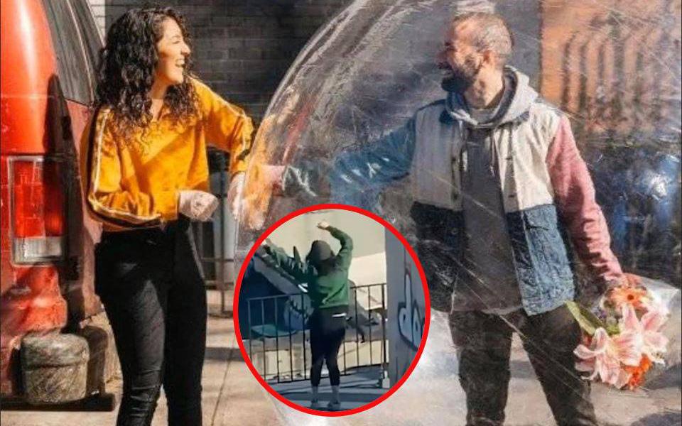 Chuyện tình trên sân thượng part2: Anh chàng đang cách ly nóng lòng muốn gặp mặt đã nghĩ cách không tưởng, đến cảnh sát cũng xin chụp ảnh cùng