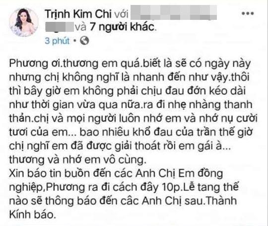 Diễn viên Mai Phương qua đời ở tuổi 35 vì ung thư - Ảnh 4.