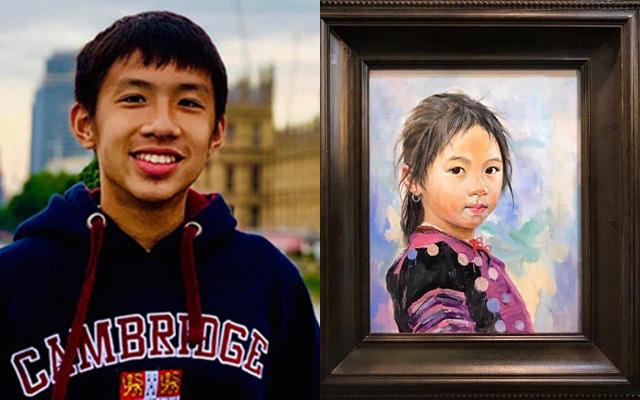 Cậu bé lớp 10 cùng mẹ bán đấu giá những bức tranh yêu thích quyên góp số tiền 55 triệu đồng vào quỹ chống dịch Covid-19
