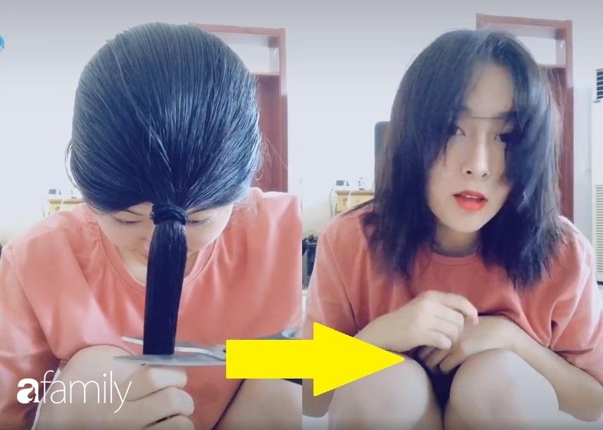Cách tự cắt tóc tại nhà của hội con gái Trung Quốc, chẳng cần ra tiệm mà vẫn xịn sò ra trò - Ảnh 3.