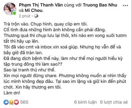 """Ốc Thanh Vân bức xúc trước hành động của một số người khi lợi dụng tang lễ của Mai Phương để chụp hình đăng mạng câu """"like"""" - Ảnh 1."""