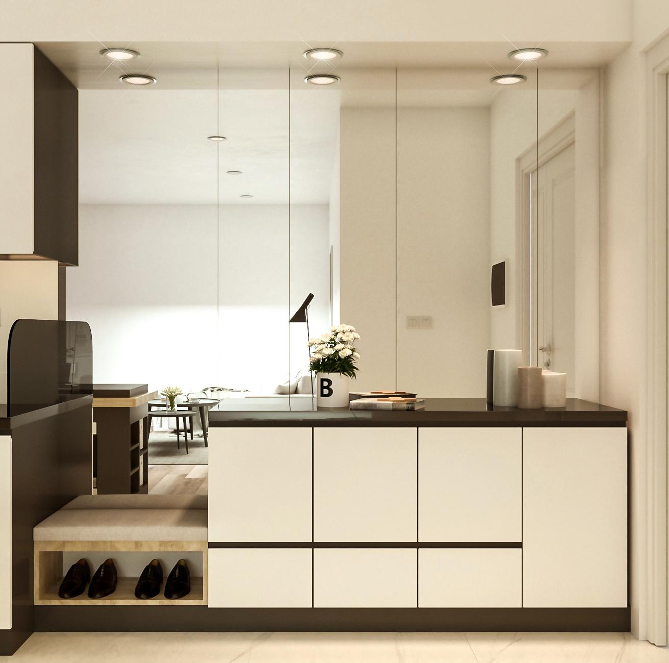 Tư vấn thiết kế căn hộ chung cư có diện tích 45m² với chi phí 128 triệu đồng - Ảnh 3.