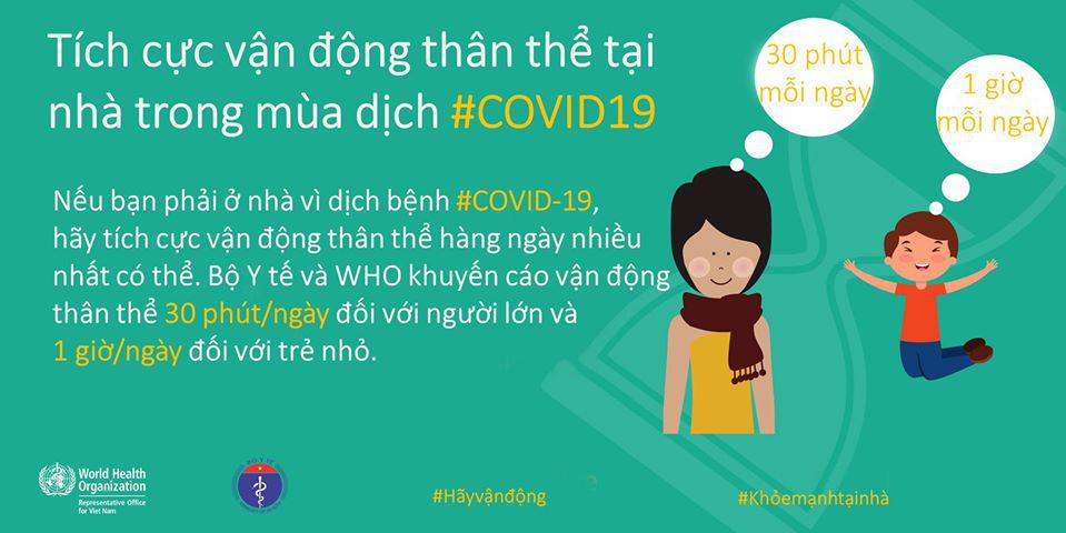 Bộ Y tế và WHO khuyến khích người dân nên tăng cường vận động thể lực để giữ sức khỏe trong mùa dịch COVID-19 - Ảnh 5.