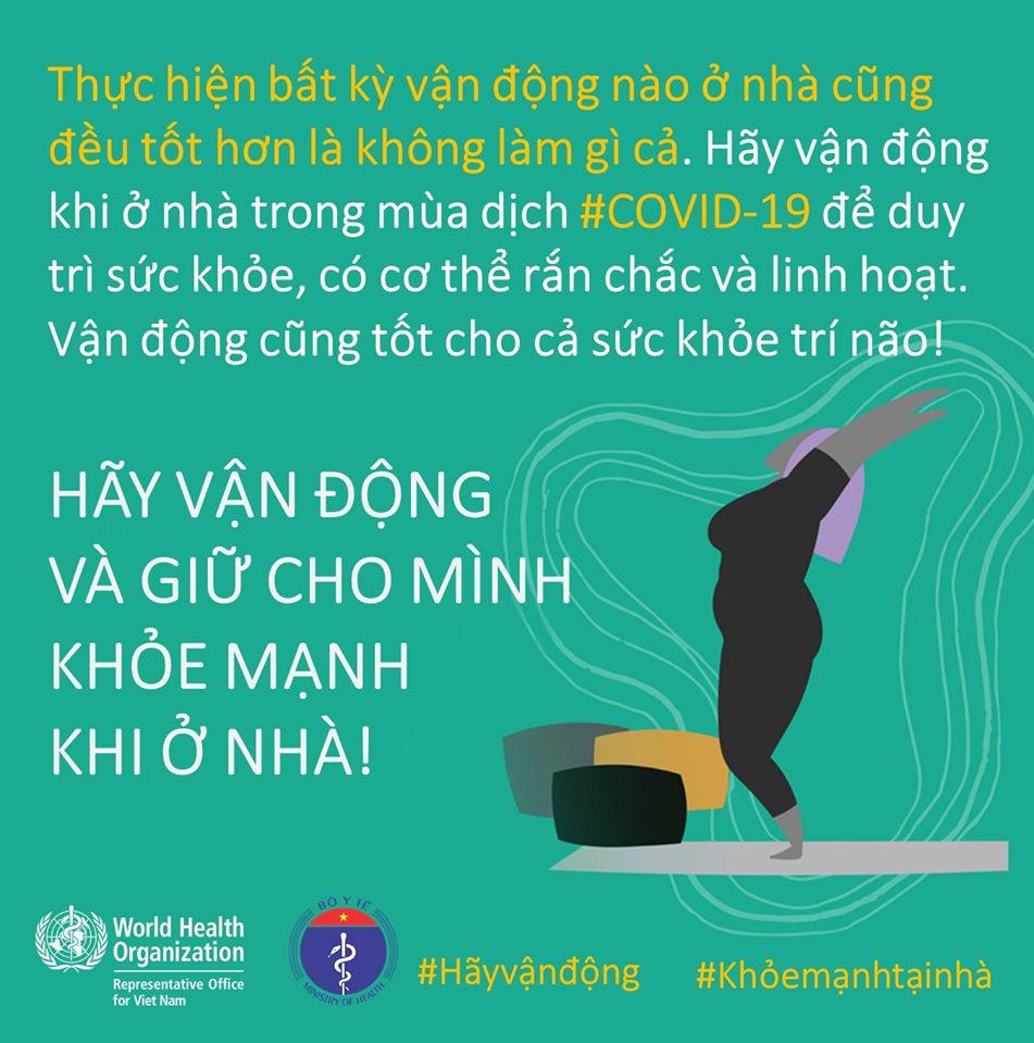 Bộ Y tế và WHO khuyến khích người dân nên tăng cường vận động thể lực để giữ sức khỏe trong mùa dịch COVID-19 - Ảnh 8.