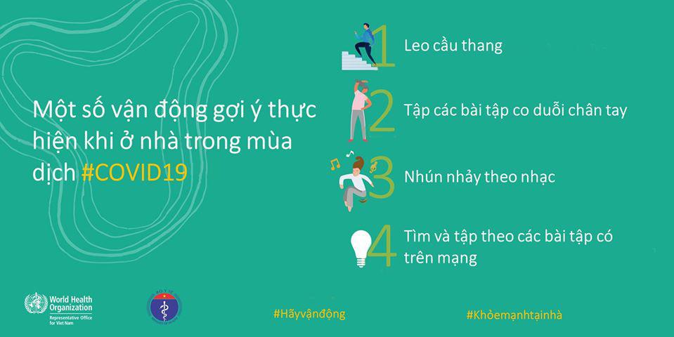 Bộ Y tế và WHO khuyến khích người dân nên tăng cường vận động thể lực để giữ sức khỏe trong mùa dịch COVID-19 - Ảnh 9.