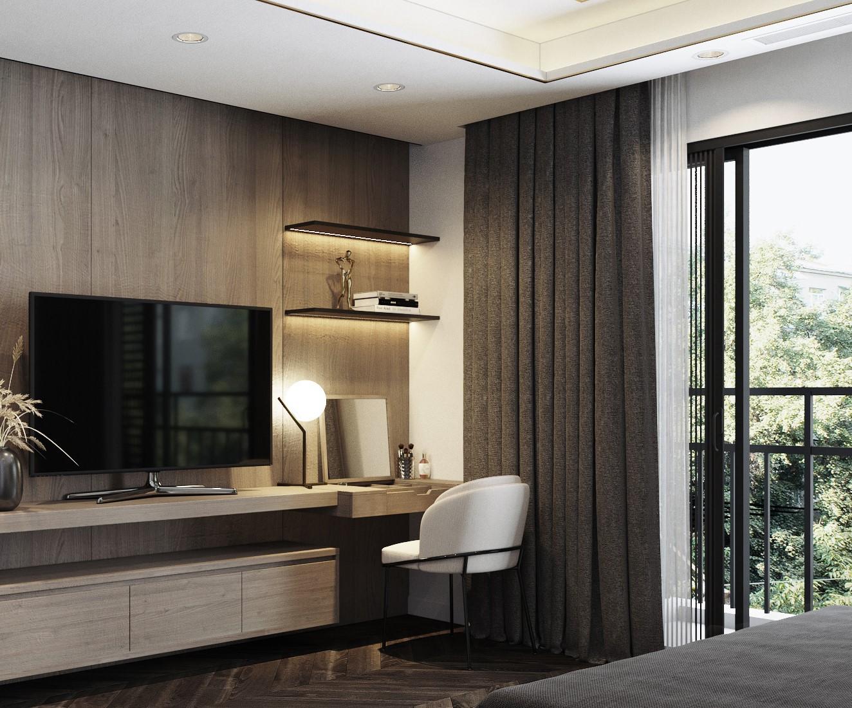 Tư vấn thiết kế nội thất phòng ngủ 16m2 đẹp hút hồn với chi phí gần 32 triệu  - Ảnh 8.