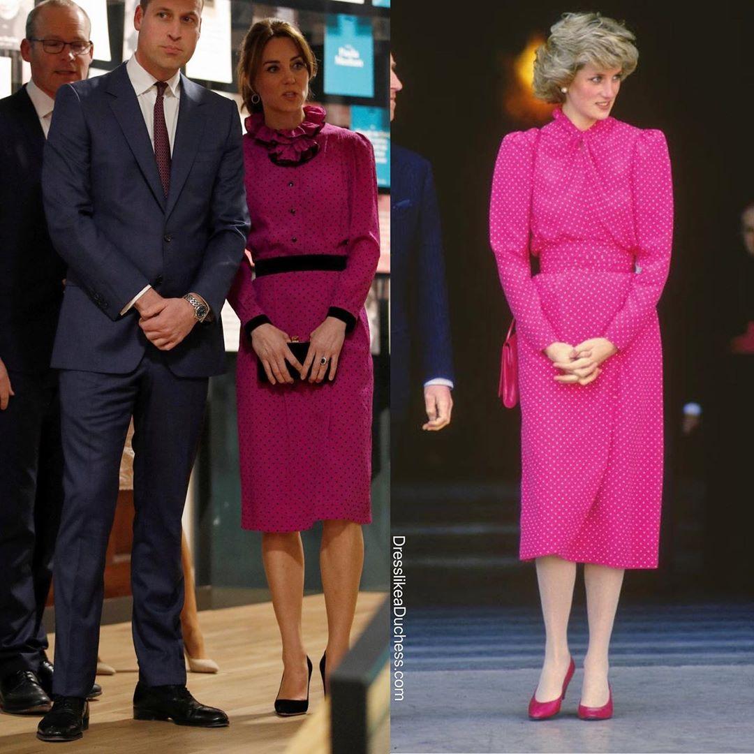 """Công nương Kate """"hạ đo ván"""" Meghan khi lần đầu tiên diện bộ đồ cũ đặc biệt, đẹp chẳng kém mẹ chồng Diana khi xưa - Ảnh 4."""