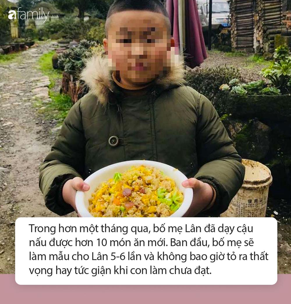 Cậu bé 8 tuổi được bố dạy làm vườn và nấu ăn thành thục trong kỳ nghỉ học vì Covid-19 - Ảnh 2.