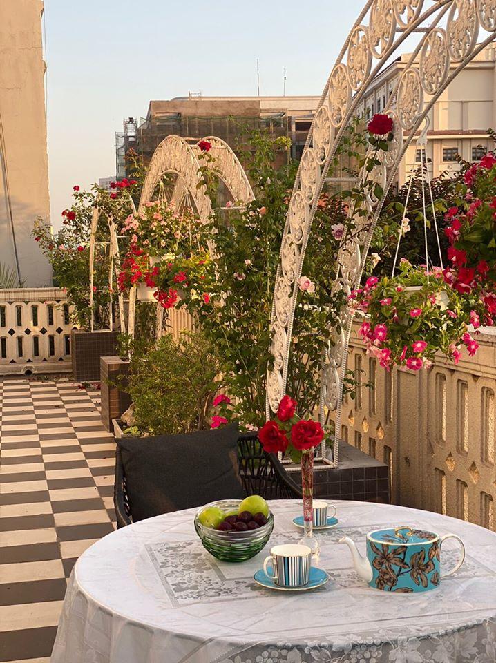 Biệt thự màu trắng siêu sang trồng nhiều hoa và cây xanh của Hoa hậu đền Hùng Giáng My - Ảnh 12.
