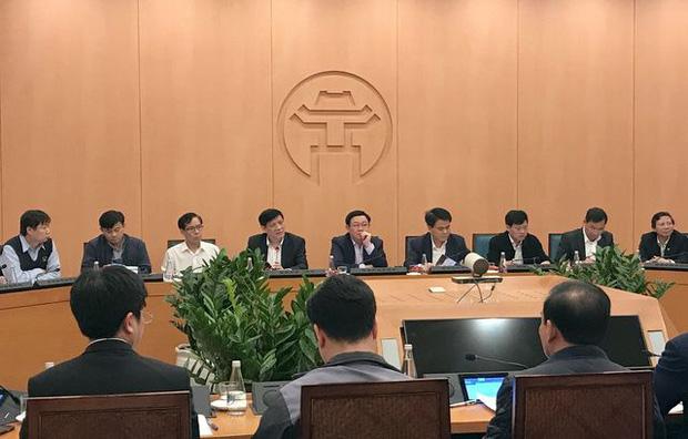 Cuộc họp tại UBND TP Hà Nội