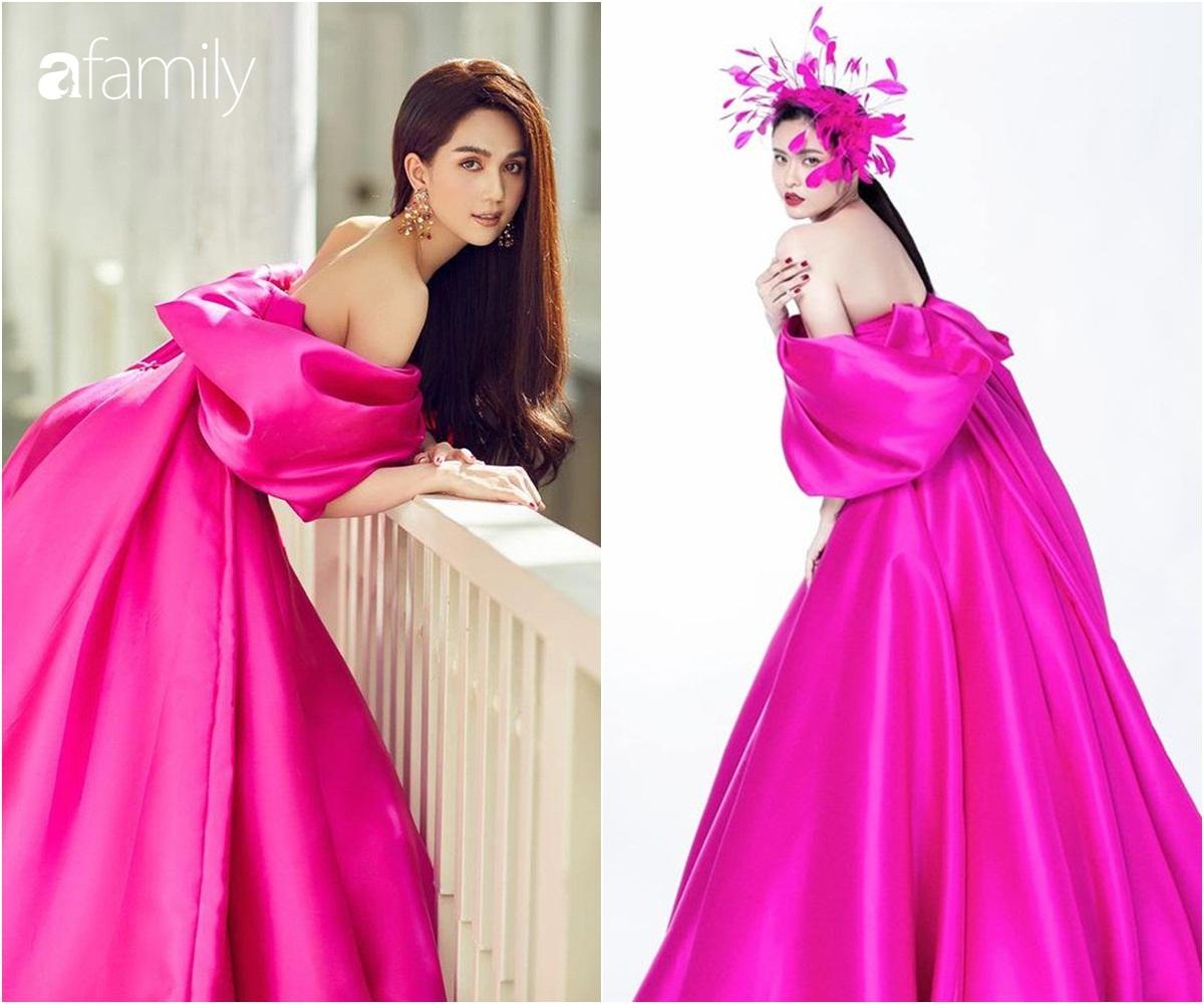 """Cùng một chiếc váy mà Ngọc Trinh xinh như công chúa, Trương Quỳnh Anh lại có chút sến """"không hề nhẹ"""" - Ảnh 4."""