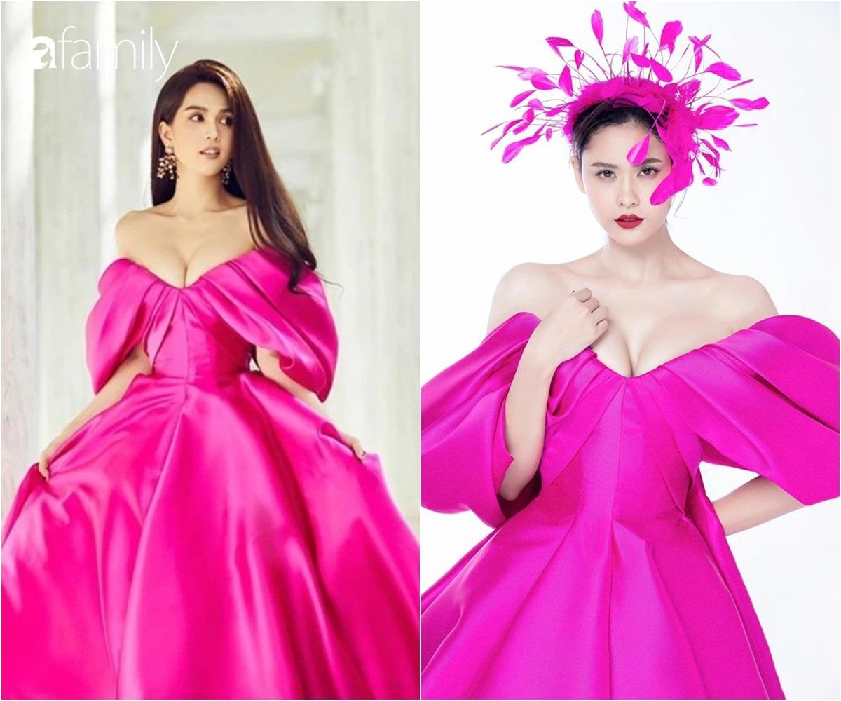 """Cùng một chiếc váy mà Ngọc Trinh xinh như công chúa, Trương Quỳnh Anh lại có chút sến """"không hề nhẹ"""" - Ảnh 3."""