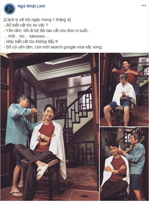 """Kỉ niệm ngày đầu tiên ở nhà chống dịch, chàng trai 32 tuổi """"so tài"""" cắt tóc cùng bố, tuy nghiệp dư nhưng kết quả thì ai cũng thấy vui - Ảnh 3."""