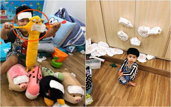 Để 2 con trai tự trông nhau đi rửa bát, mẹ Nha Trang hoảng hốt thấy căn nhà không góc nào còn nguyên vẹn