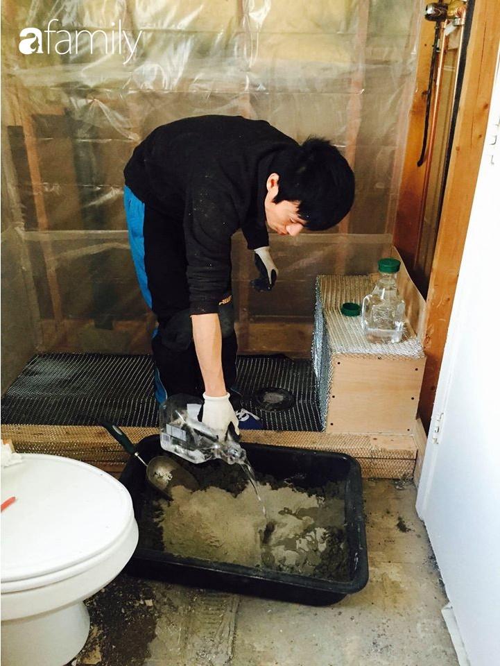 Kỉ niệm 6 năm ngày cưới, cặp vợ chồng Việt khoe khéo không gian phòng tắm tự tay cải tạo từng chút một ở đất Mỹ - Ảnh 9.