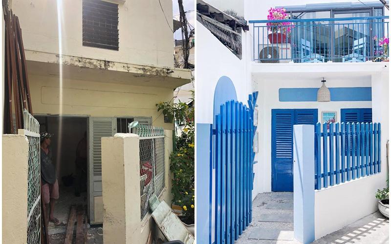 Cải tạo cực kỳ bất ngờ, lột xác hoàn toàn cho căn nhà cũ 1 phòng ngủ bằng căn nhà 2 tầng mang phong cách Santorini