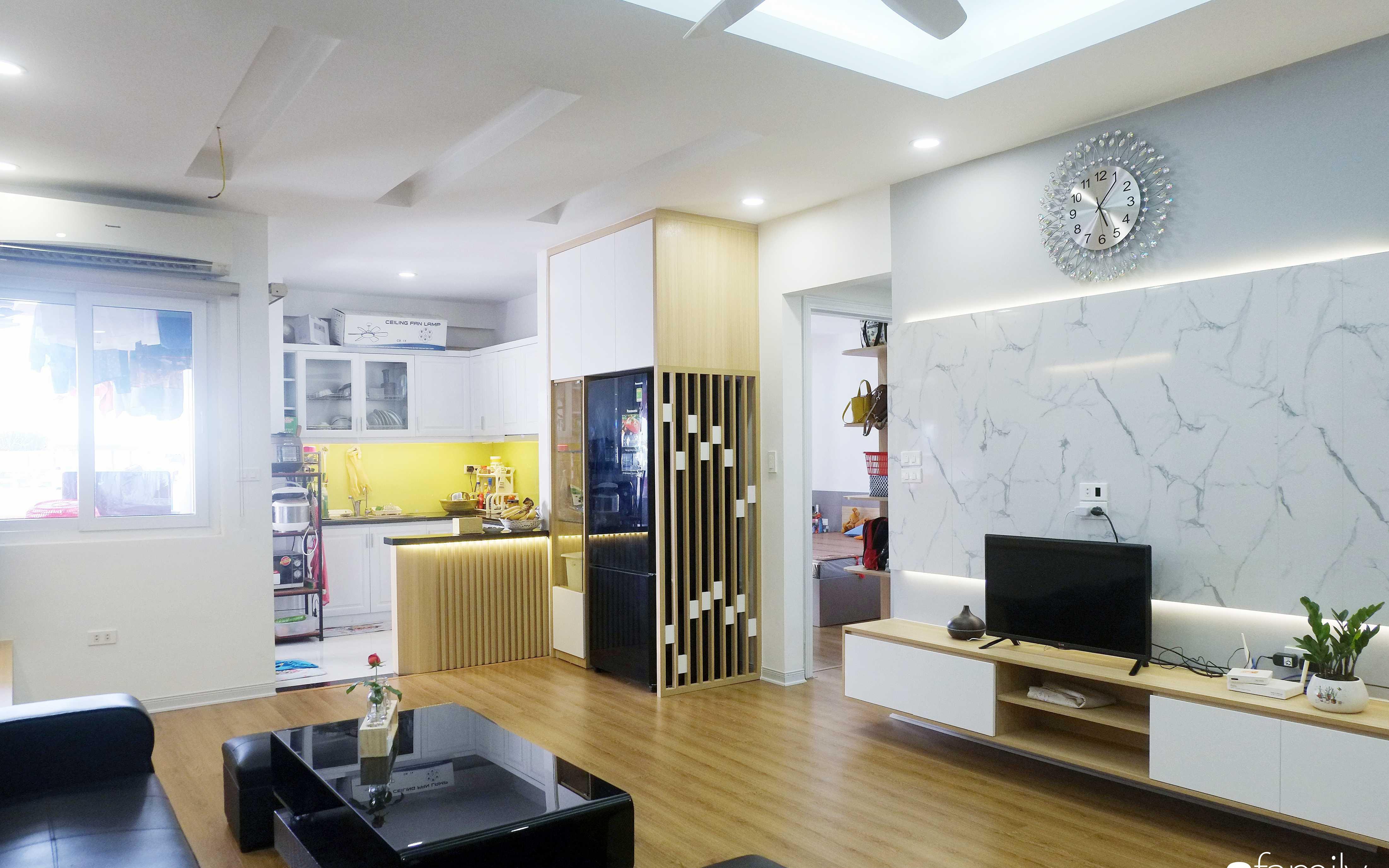 Chi 192 triệu đồng, căn hộ 75m² sập sệ, cũ nát để cải tạo thành không gian rộng rãi, tiện nghi