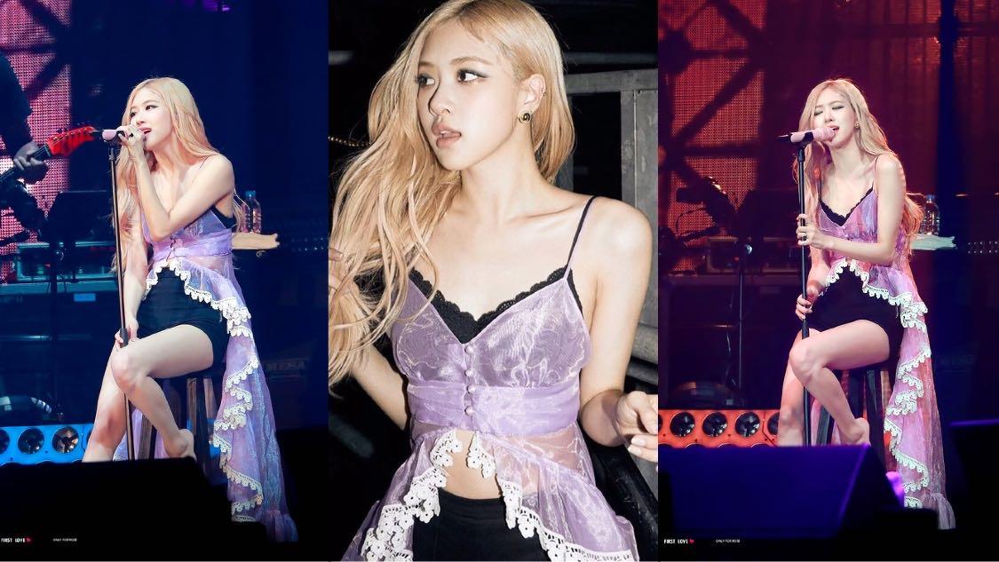 """Rosé có body chuẩn như tượng tạc, bao sao stylist chẳng ngại cho cô """"hở bạo"""" hơn hẳn Taeyeon và Chorong khi đụng đầm khó nhằn - Ảnh 2."""