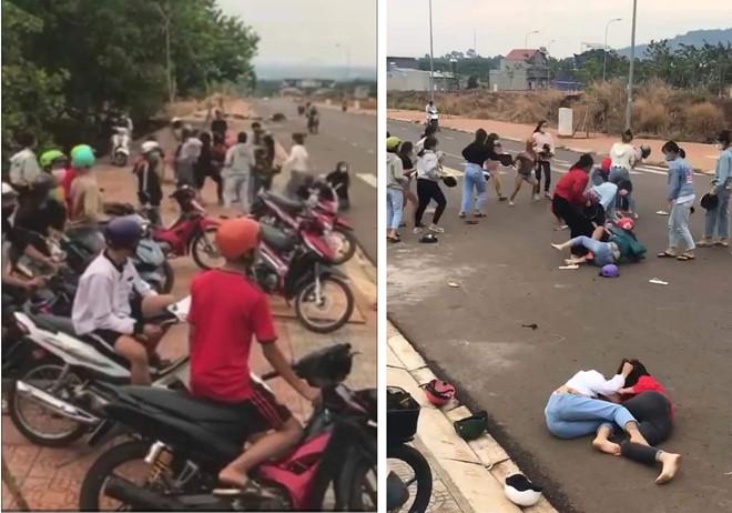 Hai nhóm nữ sinh ở Bình Phước
