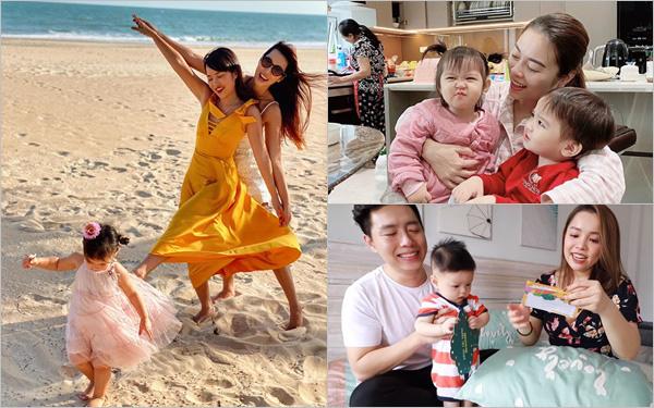 """Cuộc sống mùa dịch của các hot mom: Hằng Túi chỉ thích ra vườn chơi đùa với con, siêu mẫu Hà Anh tận hưởng kỳ """"du lịch tại gia"""" sang chảnh"""