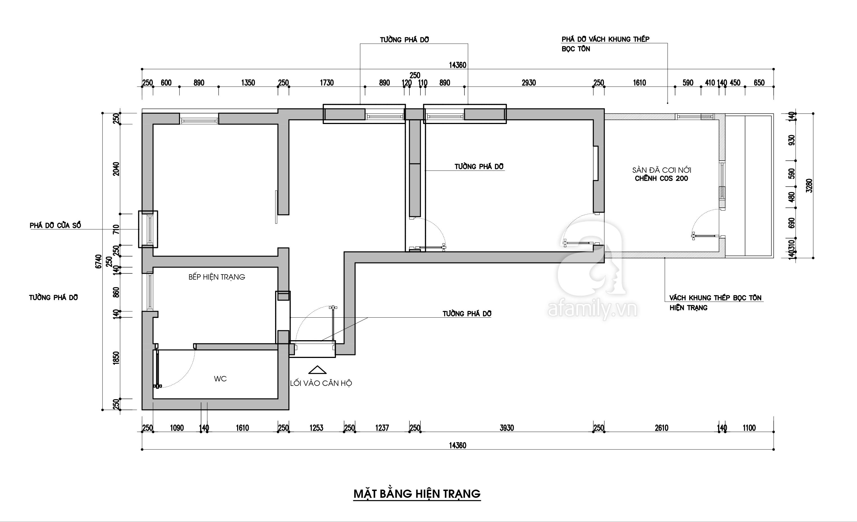 Tư vấn thiết kế cải tạo căn hộ tập thể 50m² với tổng chi phí 180 triệu đồng - Ảnh 2.