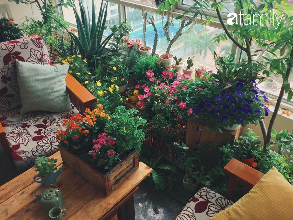 Thuê căn chung cư có diện tích 150m², cô gái ở Sài thành chơi lớn tạo ngay góc chill trong phòng khách với vài chục chậu cây xanh lớn nhỏ - Ảnh 4.