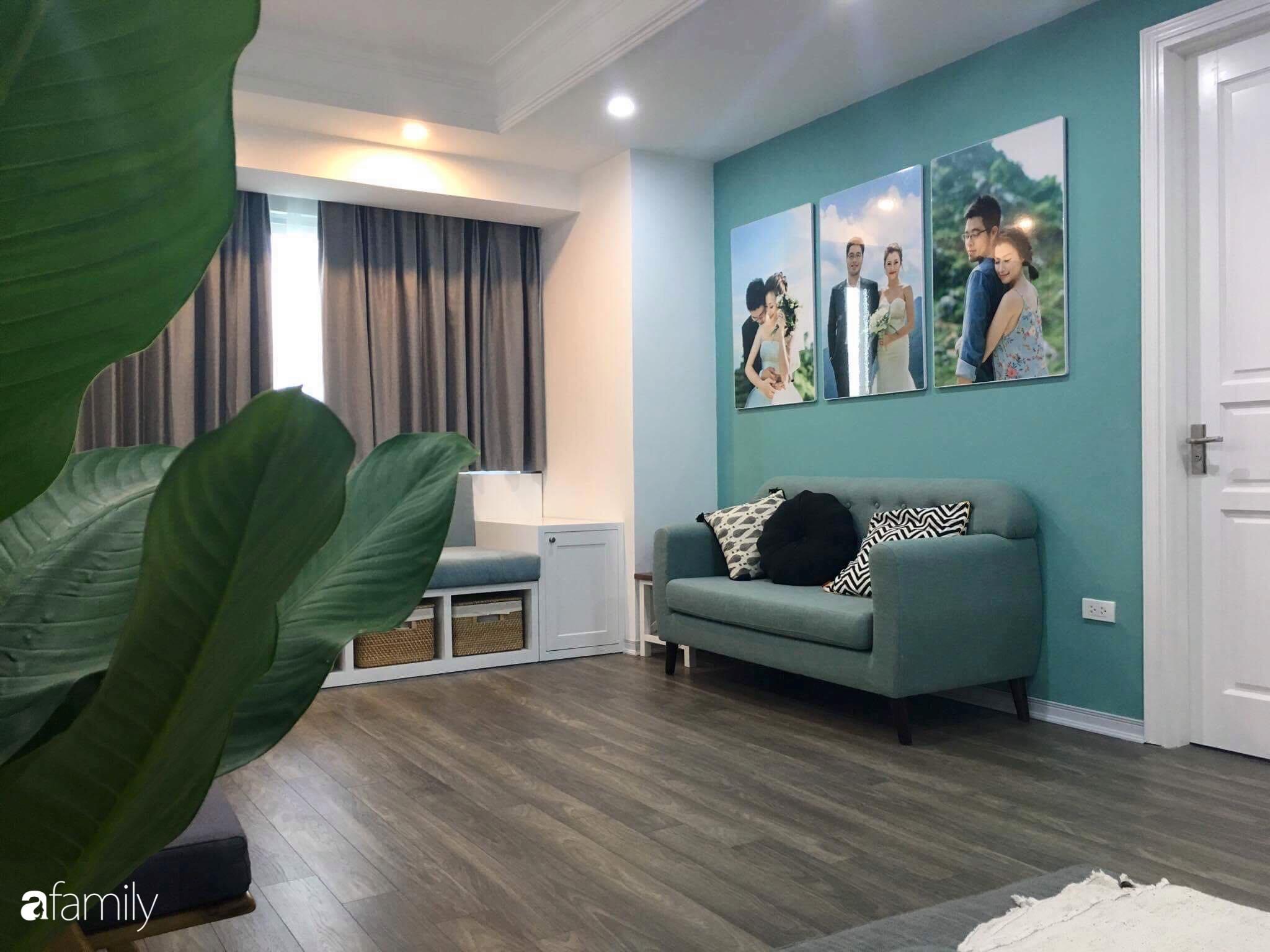 Căn hộ 145m² được décor ấn tượng với điểm nhấn màu xanh ngọc cùng tranh treo tường từ người phụ nữ yêu gia đình ở Hà Nội - Ảnh 9.