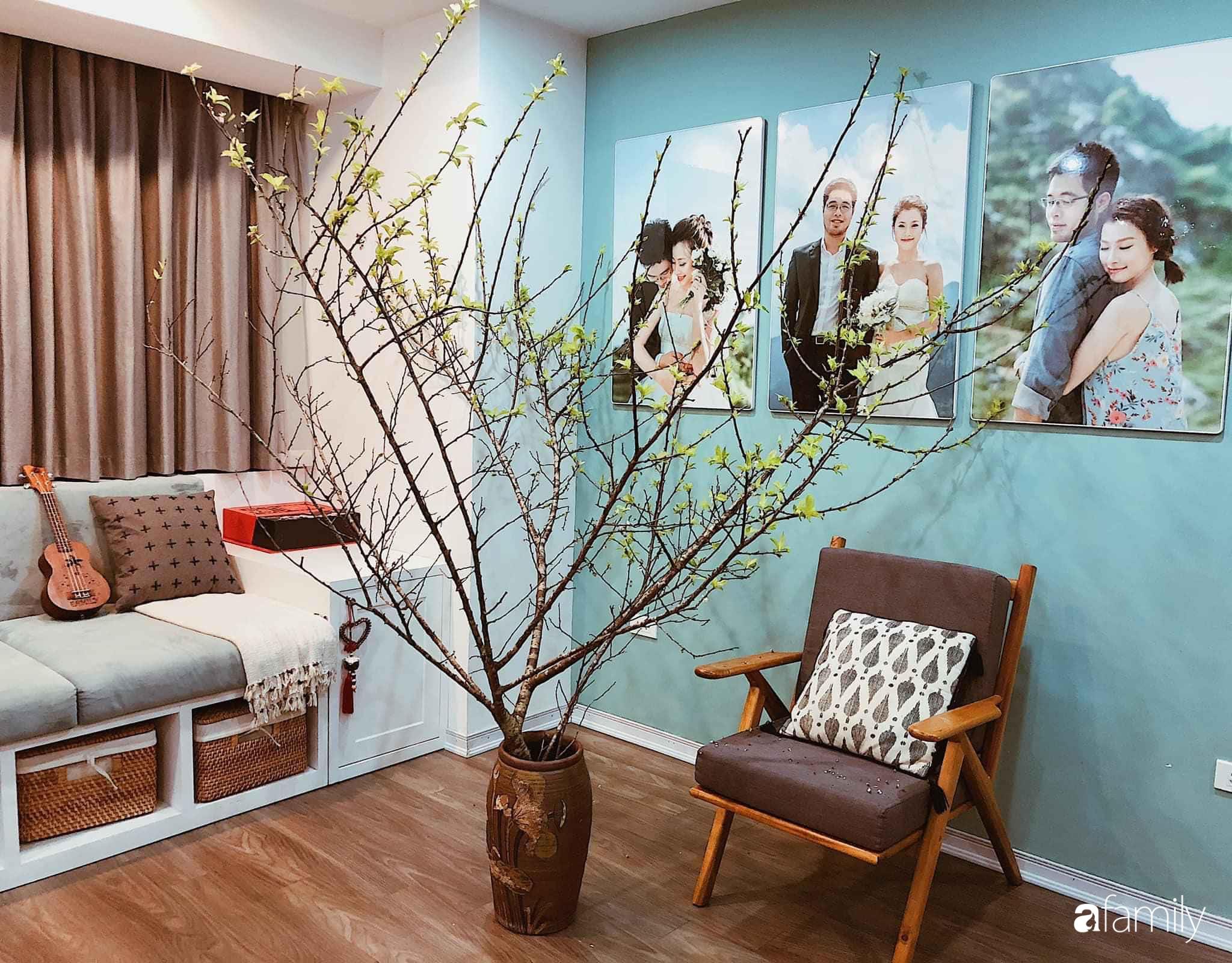 Căn hộ 145m² được décor ấn tượng với điểm nhấn màu xanh ngọc cùng tranh treo tường từ người phụ nữ yêu gia đình ở Hà Nội - Ảnh 10.