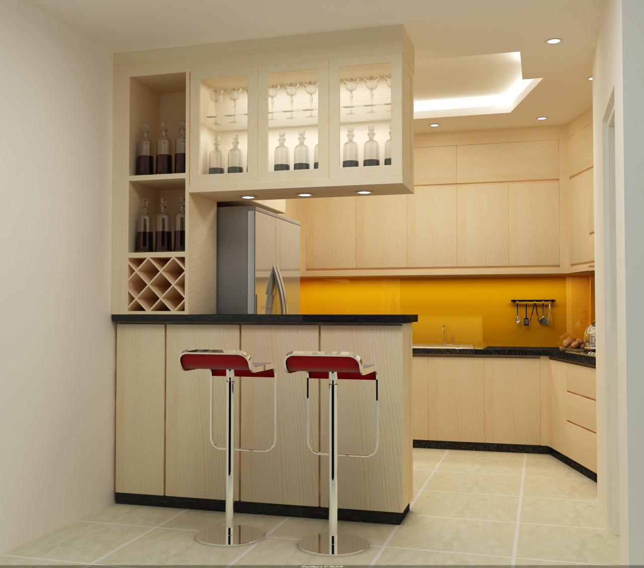 Tư vấn thiết kế nội thất căn hộ chung cư theo dạng studio có diện tích 44m² để cho thuê với chi phí 42 triệu - Ảnh 5.