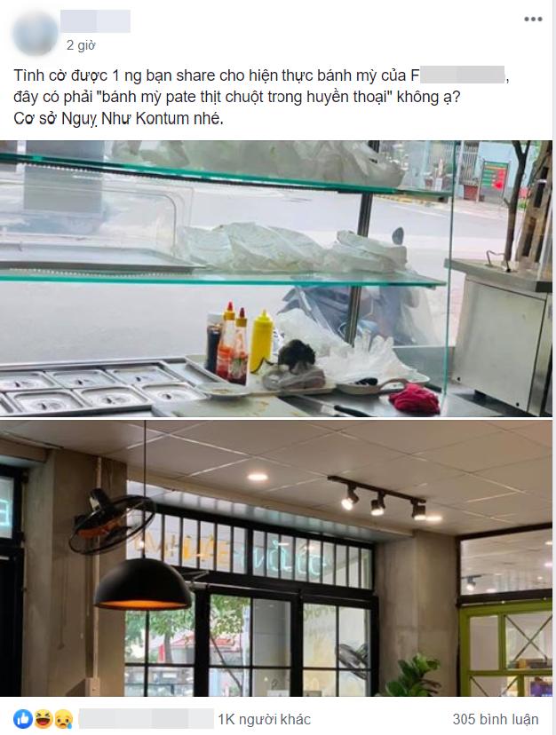 Thực khách phát hoảng khi nhìn thấy chú chuột to đùng vô tư bò lên quầy làm bánh mì, còn hoảng hơn khi đó là cửa hàng bánh nổi tiếng ở Hà Nội - Ảnh 1.