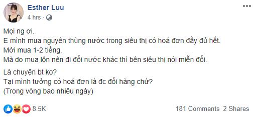Hari Won gây tranh cãi với chia sẻ về việc mua nhầm hàng trong siêu thị muốn đổi lại nhưng không được - Ảnh 1.