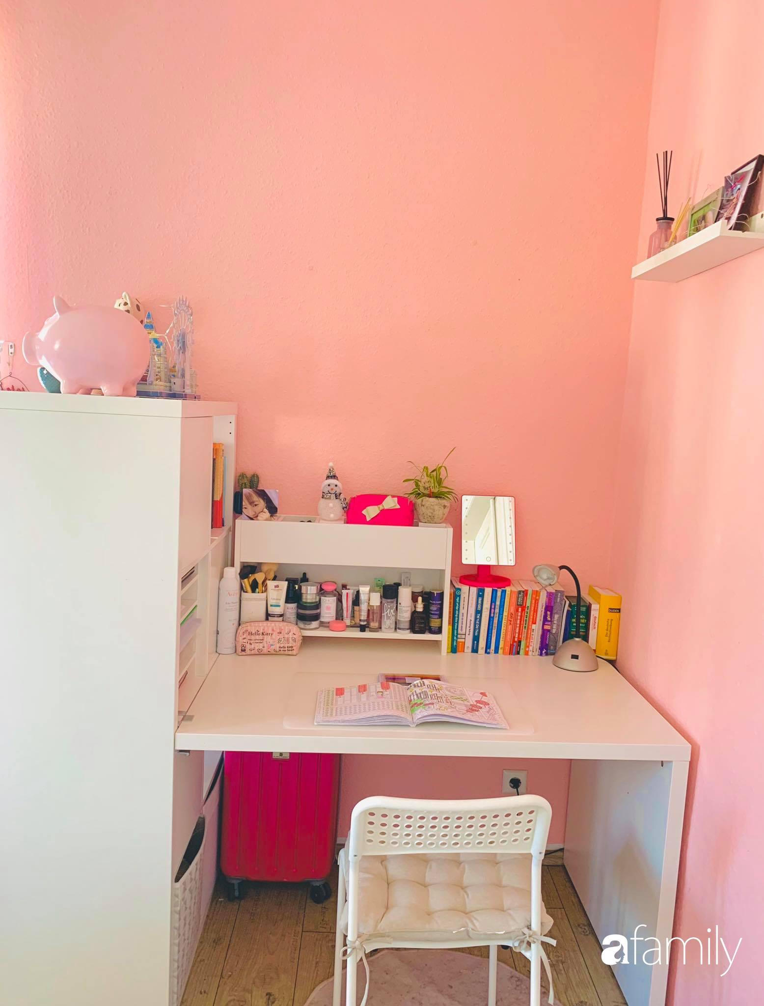 Giữa tâm dịch của nước Đức, cô gái Việt tạo niềm vui bằng cách cải tạo căn phòng thành không gian màu hồng mộng mơ - Ảnh 5.