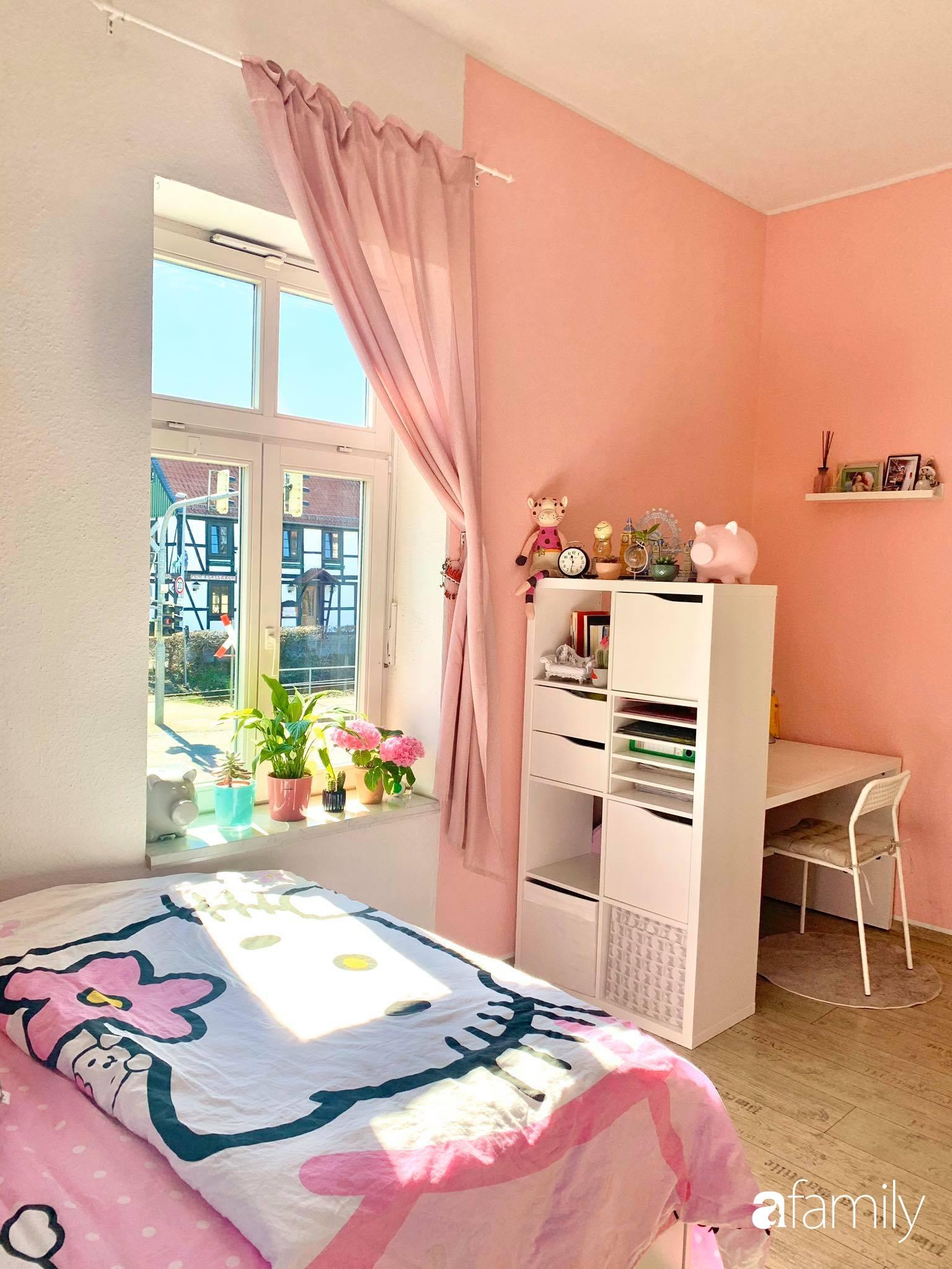 Giữa tâm dịch của nước Đức, cô gái Việt tạo niềm vui bằng cách cải tạo căn phòng thành không gian màu hồng mộng mơ - Ảnh 6.
