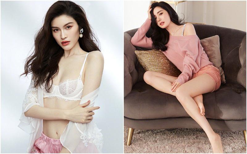 """Dương Mịch ly hôn rồi sexy quá, diện nội y lả lơi lấn át cả """"độ gợi cảm"""" so với siêu mẫu Victoria's Secret?"""