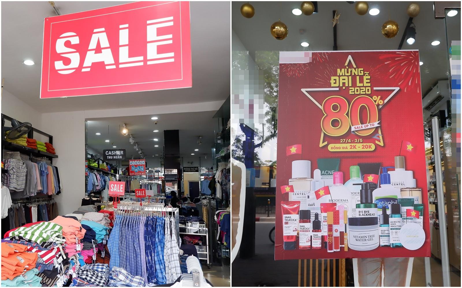 Hà Nội: Tranh thủ dịp nghỉ lễ chị em ghé ngay phố thời trang mua sắm vì đang có hàng loạt chương trình giảm giá cao nhất tới 80% từ thời trang cho tới mỹ phẩm