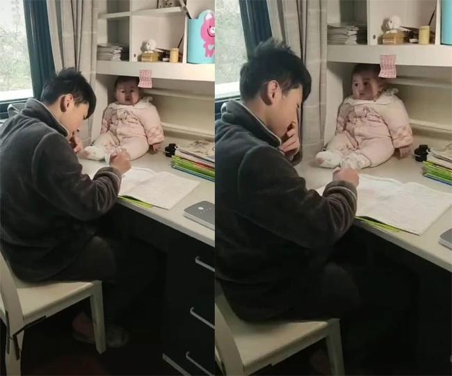 Không làm được bài tập cô giao về nhà, anh trai làm việc này với em gái khiến ai nhìn thấy cũng không nhịn được cười - Ảnh 1.