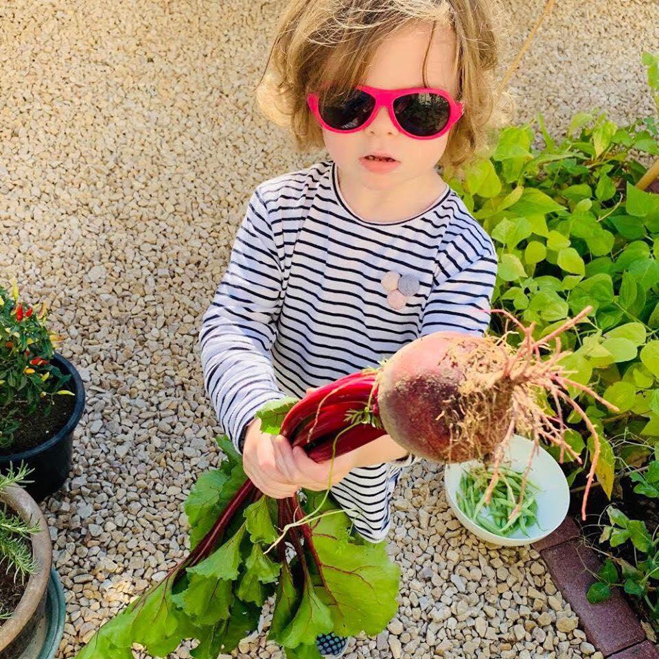 Vườn rau quả xanh um tươi tốt bố mẹ trồng giúp con gái nhỏ học nhiều điều về cuộc sống - Ảnh 10.