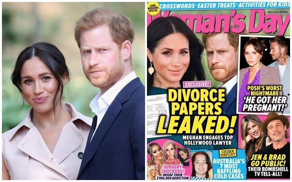 Vừa đến Mỹ sinh sống, vợ chồng Meghan Markle lại dính nghi vấn rò rỉ giấy tờ ly hôn?