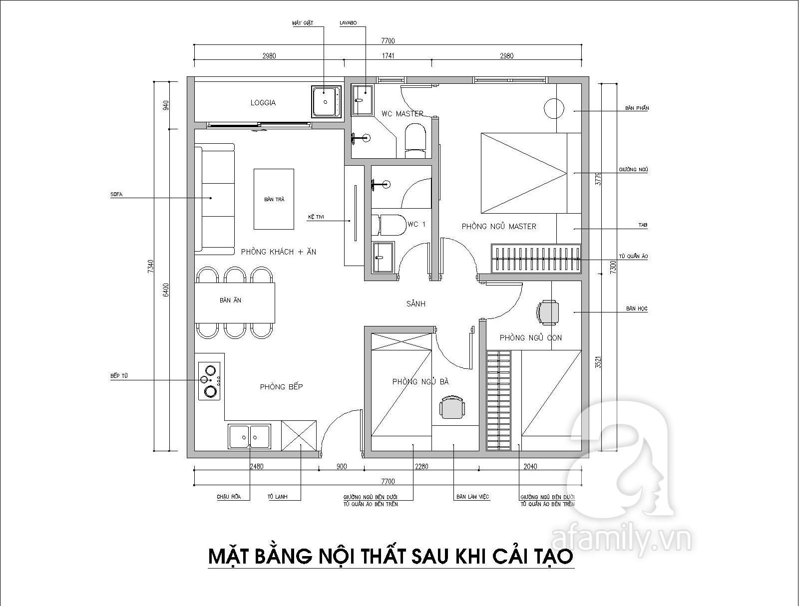 Kiến trúc sư tư vấn thiết kế cho phòng ngủ căn hộ 54m² với chi phí 15 triệu - Ảnh 3.