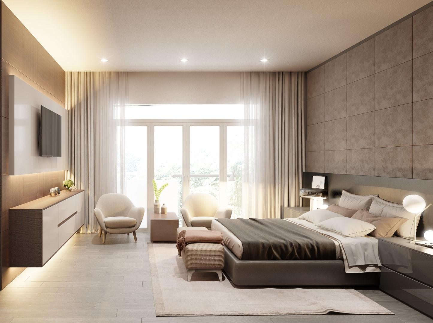 Kiến trúc sư tư vấn thiết kế cho phòng ngủ căn hộ 54m² với chi phí 15 triệu - Ảnh 6.