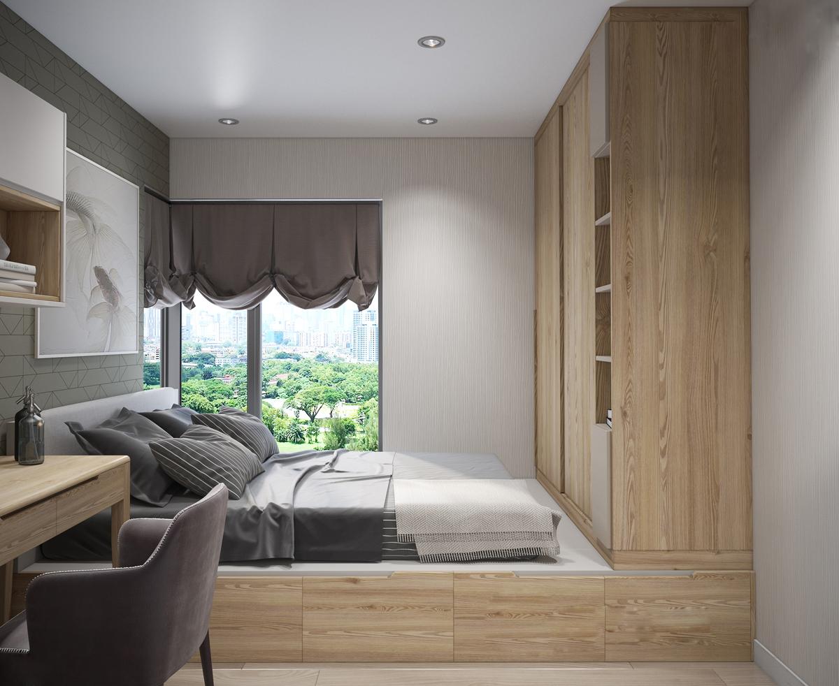 Kiến trúc sư tư vấn thiết kế cho phòng ngủ căn hộ 54m² với chi phí 15 triệu - Ảnh 9.