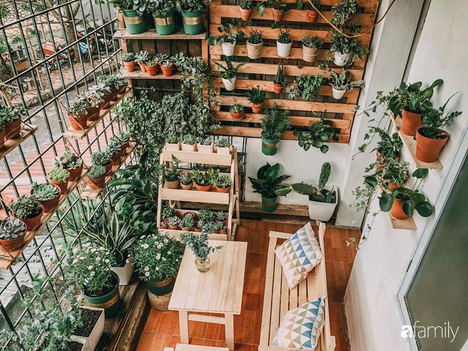 Mẹ trẻ cải tạo ban công tập thể chỉ 6m² thành vườn cây cùng góc thư giãn tuyệt đẹp cho gia đình ở Hà Nội | Báo dân sinh