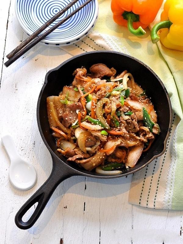 Học người Hàn làm thịt xào vừa nhanh vừa ngon - Ảnh 5.