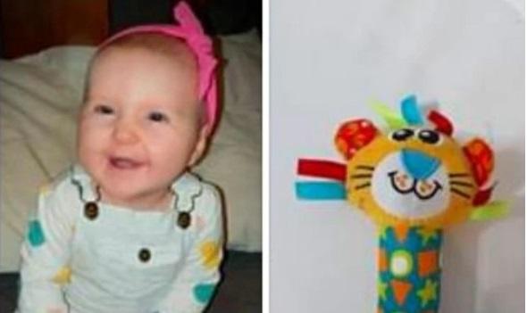 Bà mẹ lên tiếng cảnh báo khi con gái 6 tháng tuổi suýt chết bởi một món đồ chơi tưởng chừng như vô hại mà hầu như nhà ai cũng có - Ảnh 1.