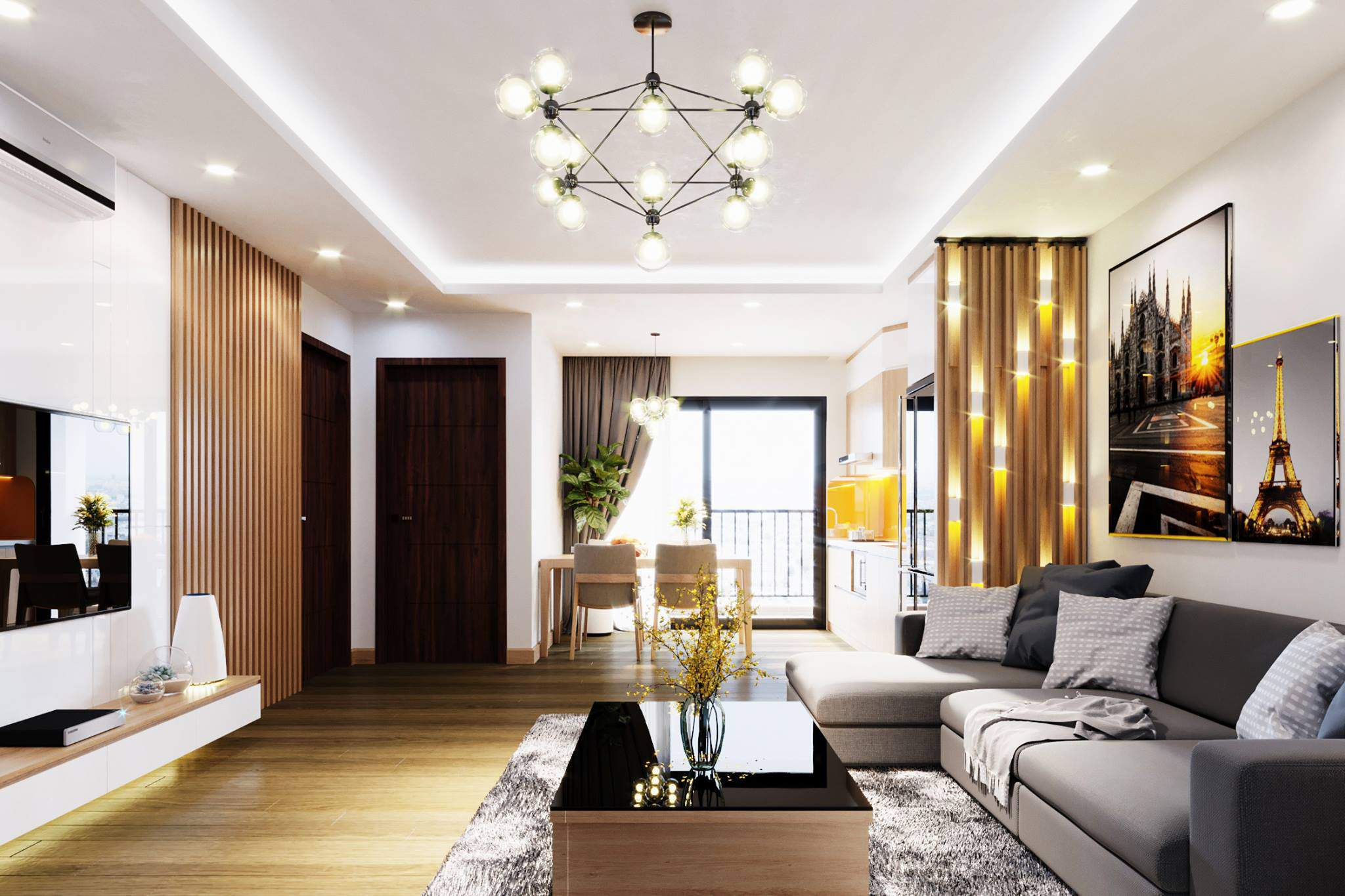 Tư vấn thiết kế nội thất căn hộ chung cư với diện tích (83m²) - Ảnh 5.