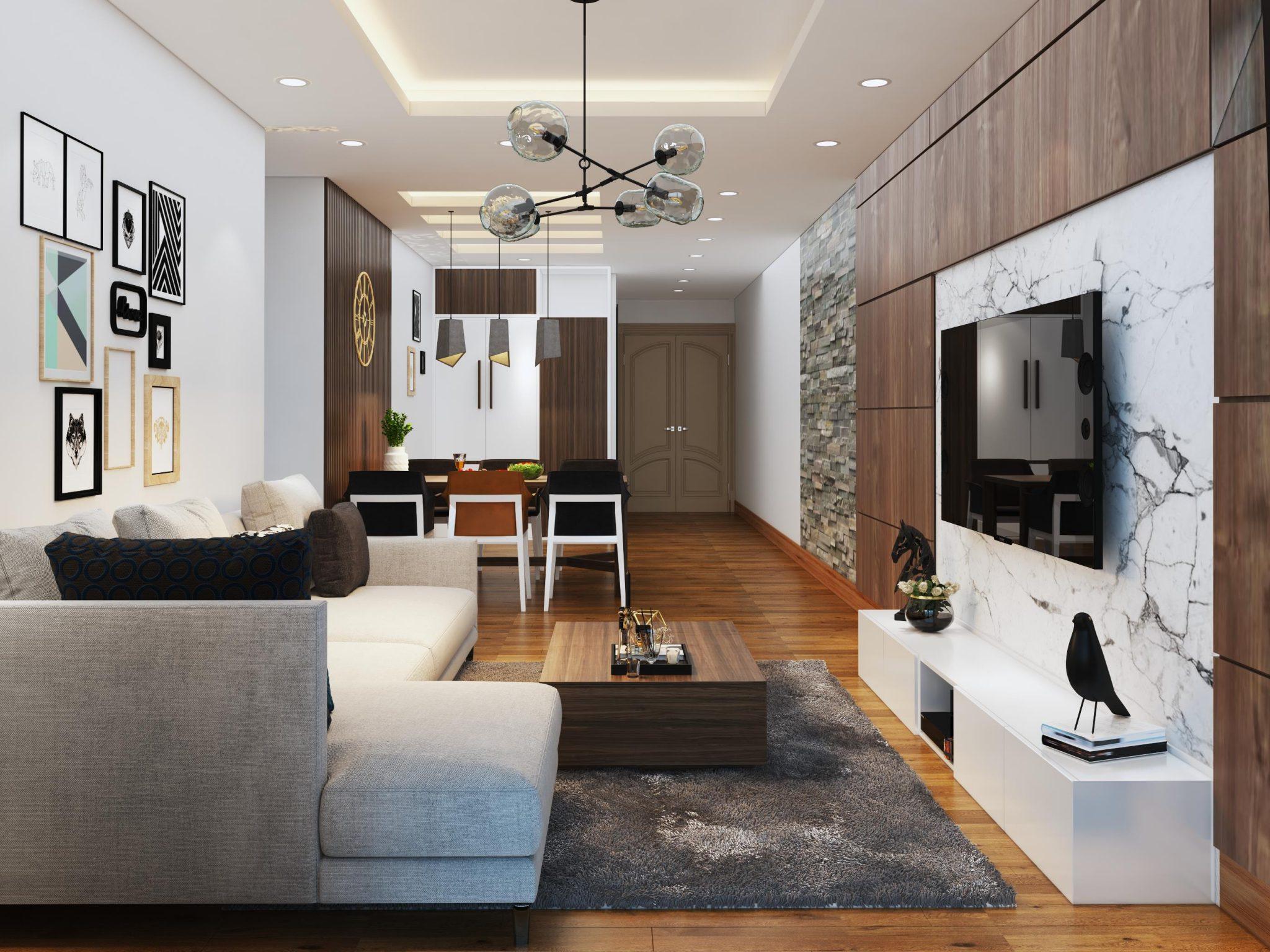 Tư vấn thiết kế nội thất căn hộ chung cư với diện tích (83m²) - Ảnh 6.