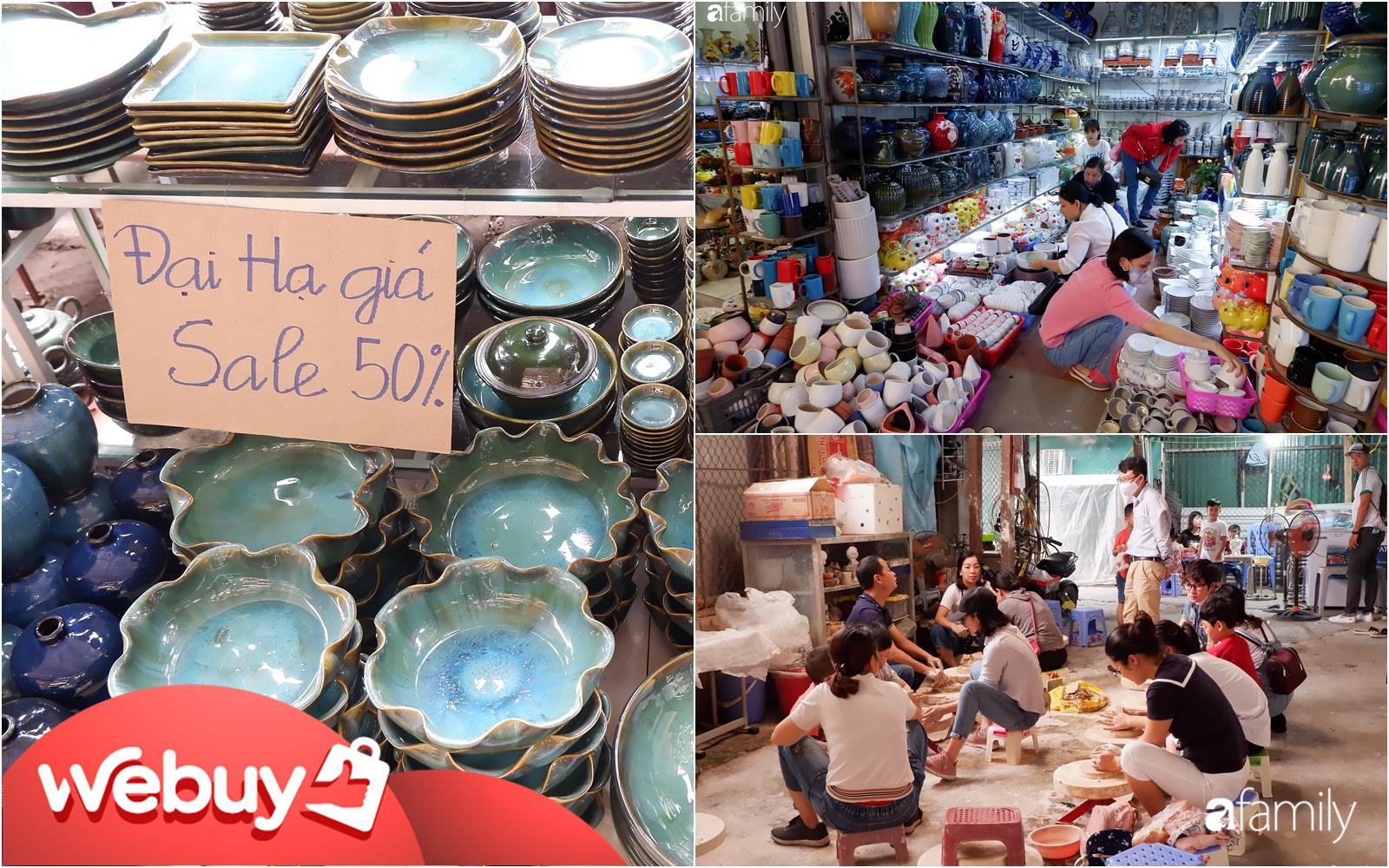 Đi chợ gốm Bát Tràng thời điểm này thỏa sức mua hàng Việt chất lượng, nhiều mặt hàng đang giảm giá đến 50%