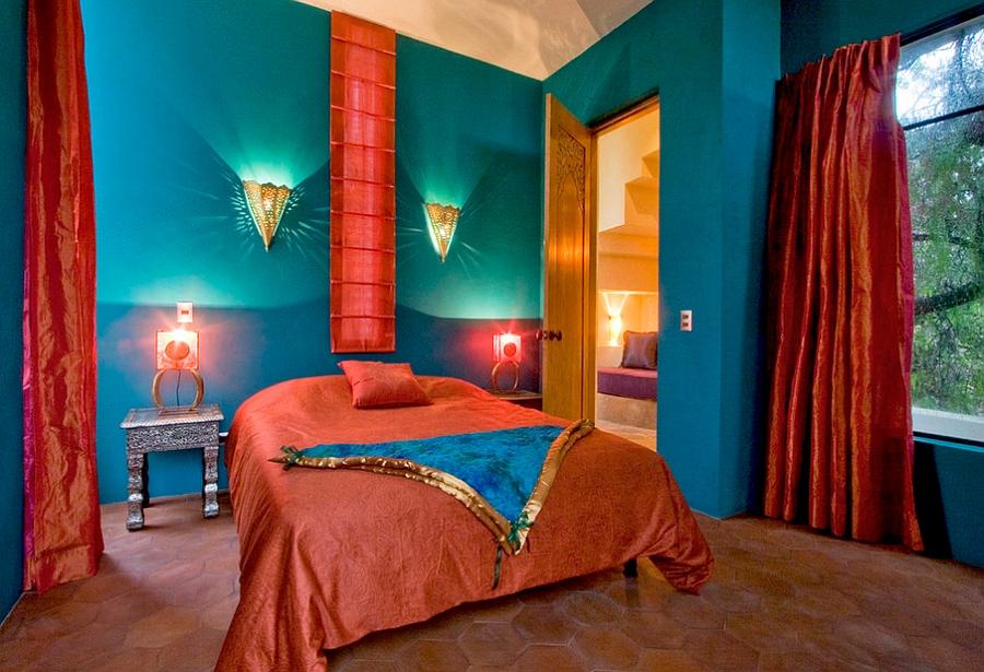 """Những căn phòng ngủ nhỏ đẹp """"thần thái"""" nhờ cách kết hợp màu sắc táo bạo - Ảnh 9."""